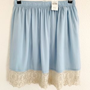 NWT* Abercrombie & Fitch •Blue Lace Mini Skirt M